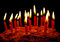 Stock Image : Celebratory cake with candles