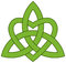 Stock Image : Celtic Trinity knot with a heart