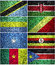 Stock Image : Central Africa flags part 1