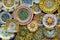 Stock Image : Ceramic plates in classic Sicilian style, Erice