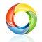 Stock Image :  Cerchio variopinto 3D o anello