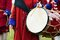 Stock Image : Ceremonial drum outdoors