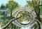Stock Image : Cg painting bridge in the garden