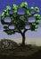 Stock Image : Cg painting tree window