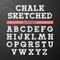 Stock Image : Chalk sketched font, alphabet