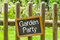 Stock Image : Chalkboard with the inscription Garden Party
