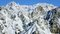 Stock Image : Chamonix valley mountains aerial view