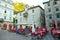 Stock Image : Charming town square in Kotor, Montenegro