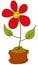 Stock Image : Cheerful flower pot