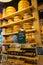 Stock Image : Cheese wheels