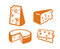 Stock Image : Cheeses icon