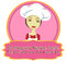Stock Image : Chef woman logo with banner