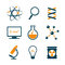 Stock Image : Chemistry and science icons