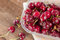 Stock Image : Cherries closeup from above