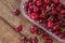 Stock Image : Cherries on table closeup