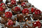 Stock Image : Cherry and chocolate cake