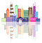 Stock Image : Chicago City Skyline Color Vector Illustration