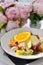 Stock Image : Chicken Salad Fruit Vegetables