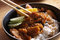 Stock Image : Chicken teriyaki with rice