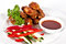Stock Image : Chicken wings with barbecue sauce