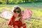 Stock Image : Child in ladybug costume