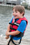 Stock Image : Child in Life Jacket