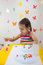 Stock Image : Child painting in playroom