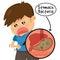 Stock Image : Child's stomach ache