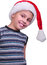 Stock Image : Child with Santa Claus red hat