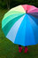 Stock Image : Child with umbrella outdoors