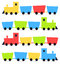 Stock Image : Childish cartoon colorful trains