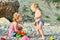 Stock Image : Children on the beach