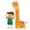 Stock Image : Children grow taller