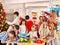 Stock Image : Children making card.