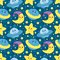 Stock Image : Children space pattern