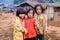Stock Image : Childrens of Karen villager in poverty village.