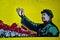 Stock Image : Chinese communist propaganda poster art with Mao Zedong