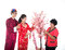 Stock Image : Chinese new year family