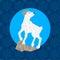 Stock Image : Chinese New Year 2015 zodiac symbol