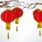 Stock Image : Chinese Red Lanter New Year