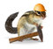 Stock Image : Chipmunk builder, reconstruction concept