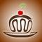 Stock Image : Chocolate cake with cherry