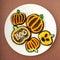 Stock Image :  Chocolate Sugar Cookies de Halloween