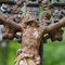Stock Image : Christ on the cast- iron cross in the old cemetery