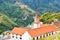 Stock Image : Christian Church with beautiful mountain