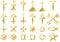 Stock Image : Christian religious symbols Gold