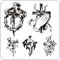 Stock Image : Christian symbols - vector illustration.