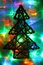 Stock Image : Christmas abstract background from color lights