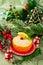 Stock Image : Christmas  appetizer in orange