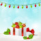 Stock Image : Christmas background with gift box